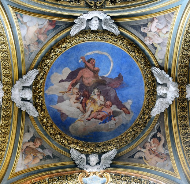 Second left chapel ceiling in Santa Maria dell'Orto (Rome)