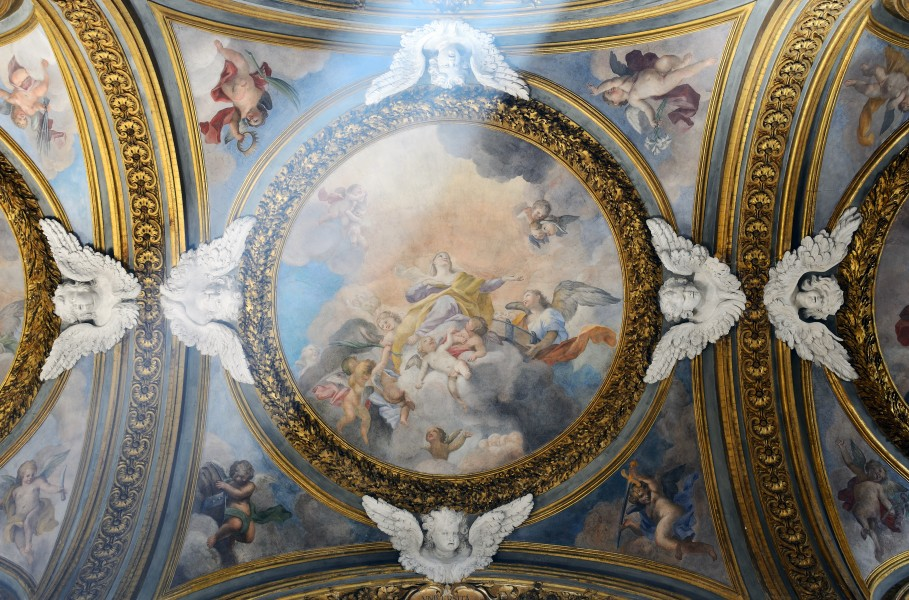 Second right chapel ceiling in Santa Maria dell'Orto (Rome)