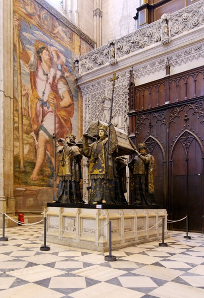 Sevilla cathedral - tomb of christopher columbus