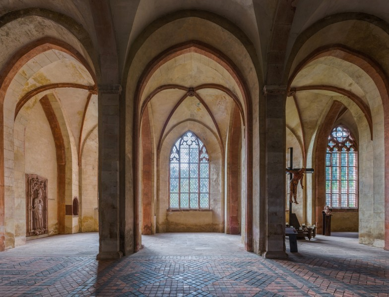 Side aisle, Basilica of Kloster Eberbach 20140903 1