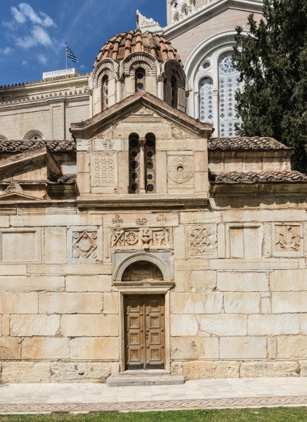Side façade of the Panagia church Athens Greece