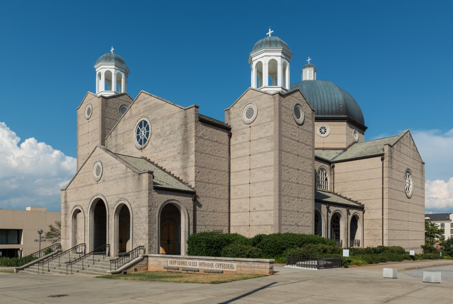 St. George Greek Orthodox Cathedral, Greenville SC, West view 20160701 1