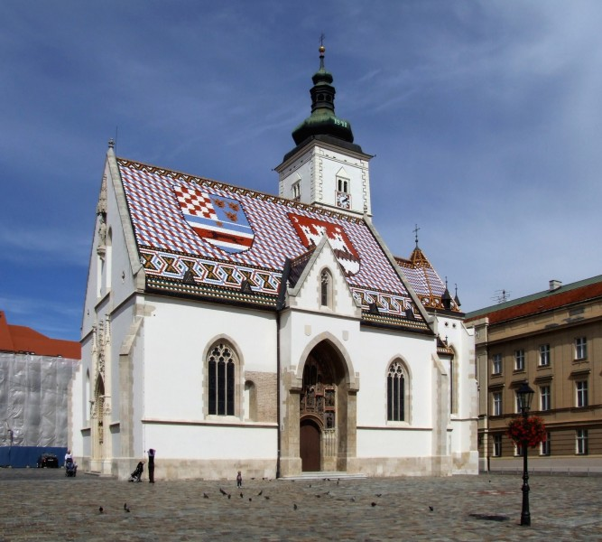 St. Mark's Church, Zagreb by Pudelek