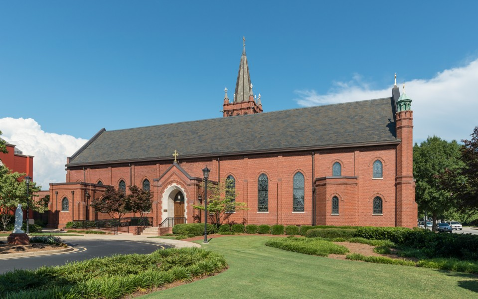 St. Mary's Church, Greenville SC, West view 20160701 1