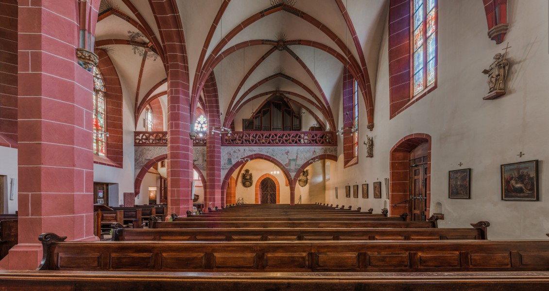 St. Peter und Paul, Eltville, Nave seen from Choir 20140902 1