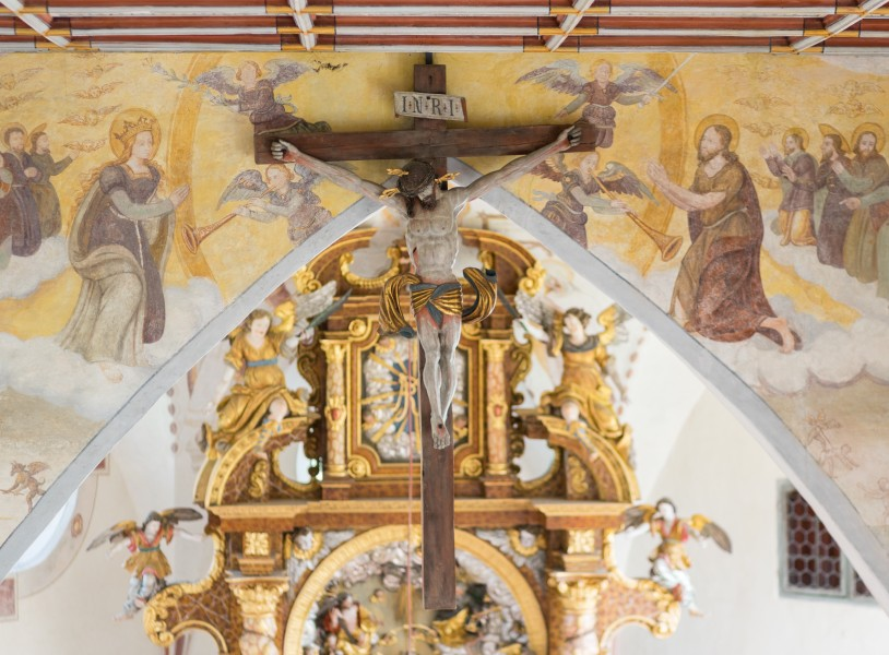 St. Simon und Judas Thaddäus (Holzgünz) - cross hanging from the ceiling