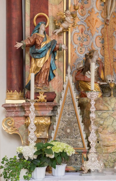 St. Simon und Judas Thaddäus (Holzgünz) - Details on the left altar
