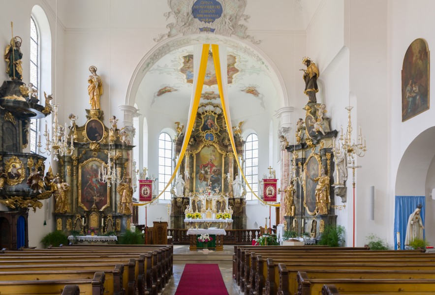 St. Ursus (Klosterbeuren) view towards high altar