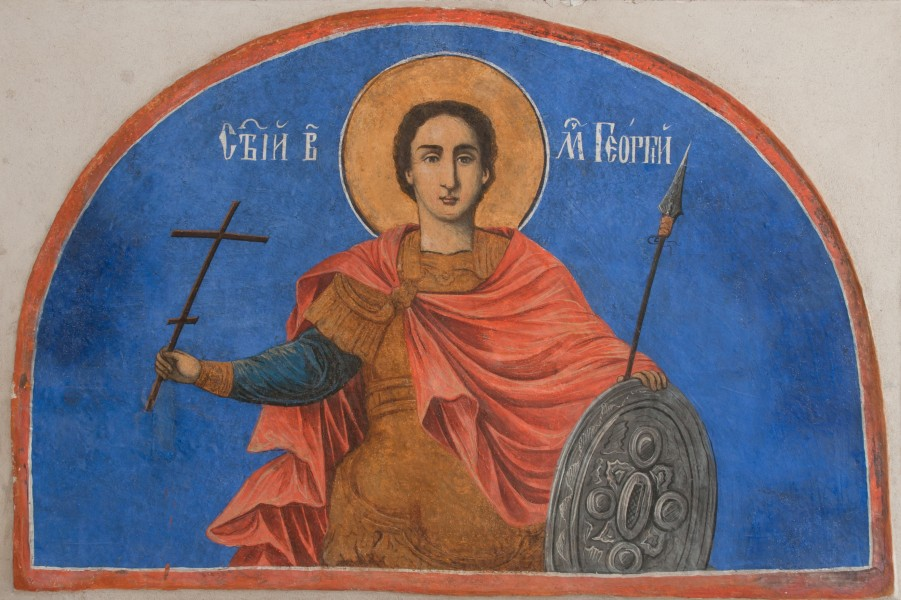 St George fresco - St George Church museum - Kyustendil.
