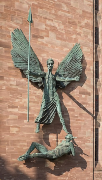St Michael's victory over the Devil by Sir Jacob Epstein, Coventry Cathedral