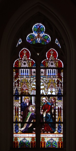Stained glass window in Osijek cathedral