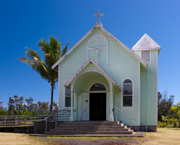 Star of the Sea Painted Church, Big Island (exterior view)