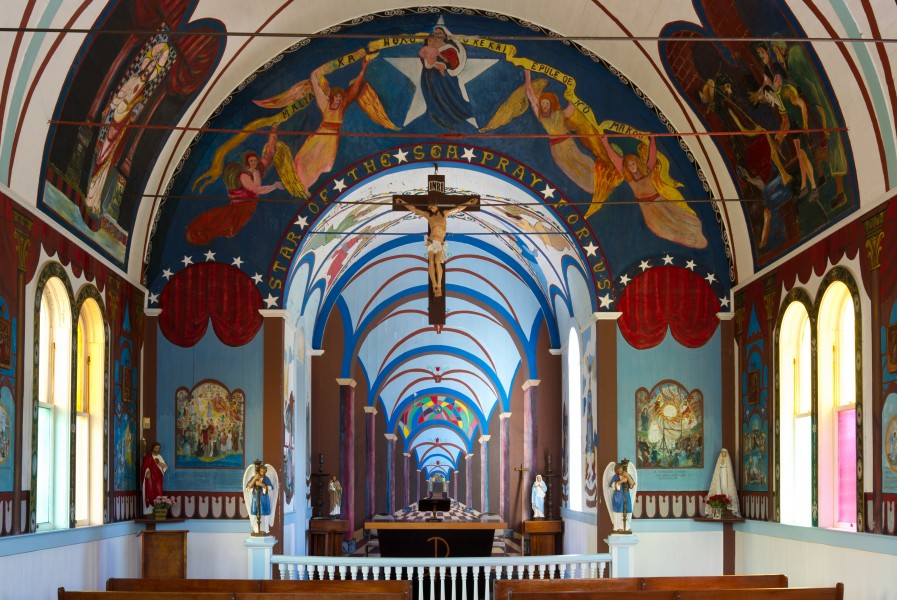 Star of the Sea Painted Church, Big Island (interior)