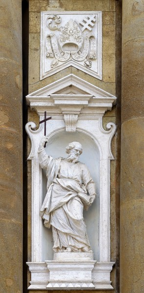 Statue of James, son of Alphaeus on church of San Pietro Apostolo (Frascati)