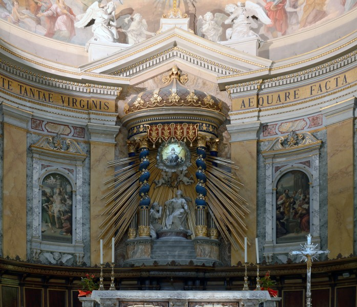 Statues behind the Altar of St. Cathedral of Amelia