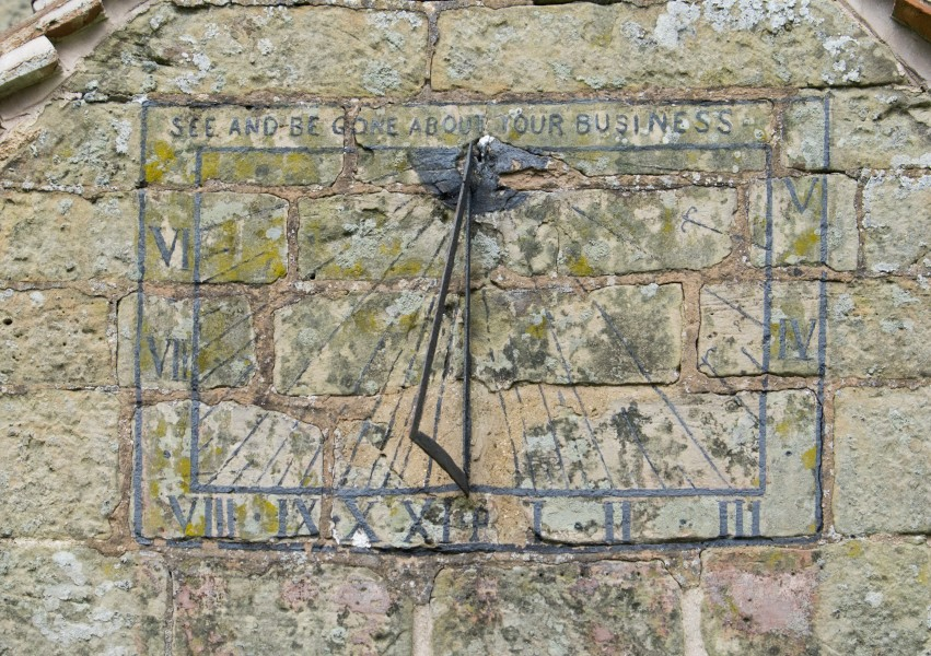 Sundial on the porch of St. Giles Church, Chesterton