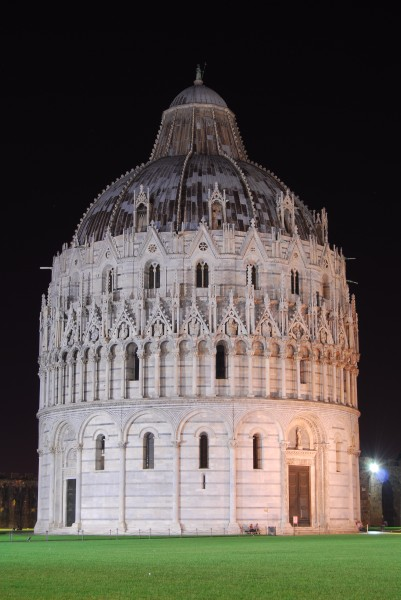 The Baptistery in Pisa Italy at night JD03092007