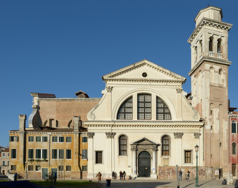 The church of San Trovaso in Venice eastern side