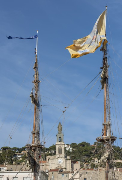 The masts of the Shtandart (ship, 1999), Sète cf01