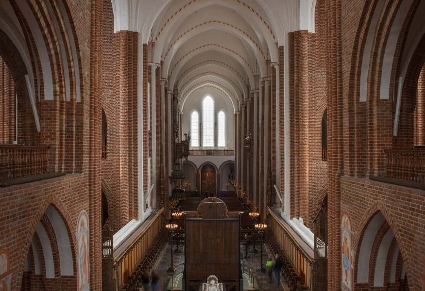 The nave in Roskilde Cathedral, Denmark, 2015-03-31-4816