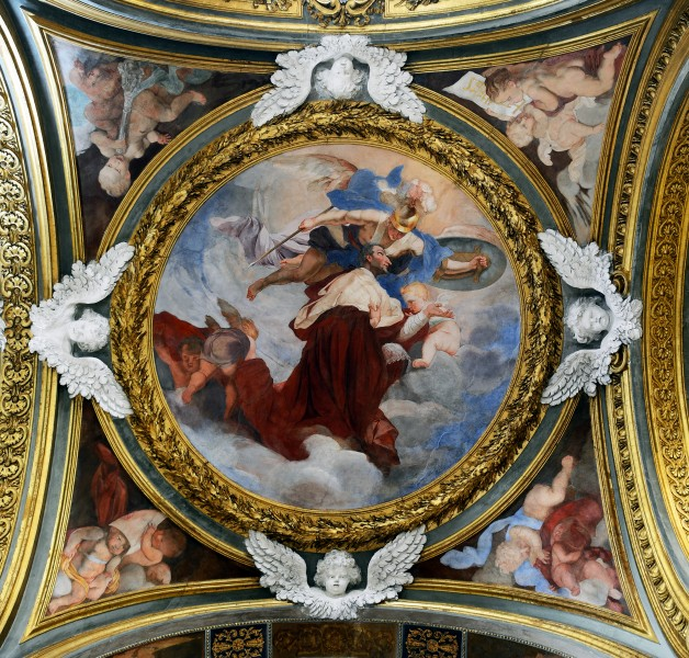 Third left chapel ceiling in Santa Maria dell'Orto (Rome)