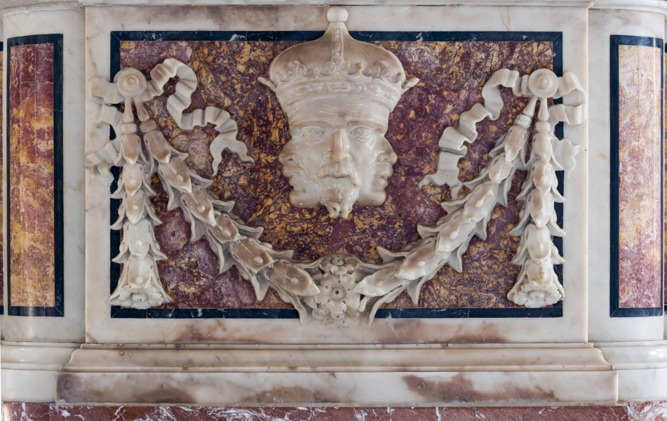 Three faces on one head, Santa Maria del Popolo, Rome, Italy