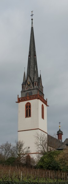 Tower of St. Markus, Erbach im Rheingau, Southwest view 20150123 5
