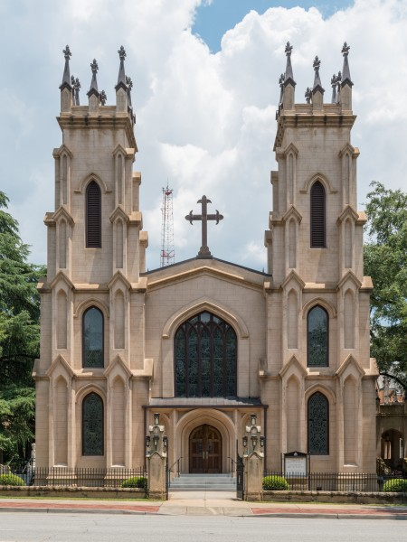 Trinity Episcopal Cathedral, Columbia SC, West view 20160702 1