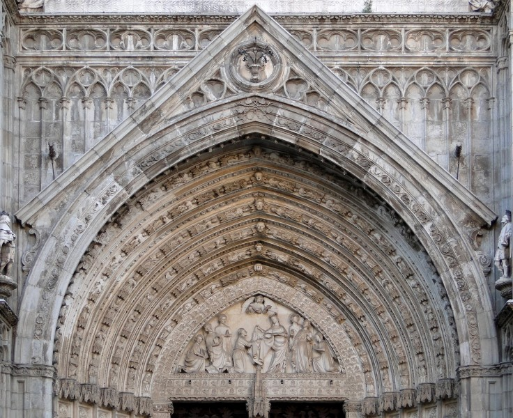 Tympanum of Puerta del Perdón, Cathedral of Toledo