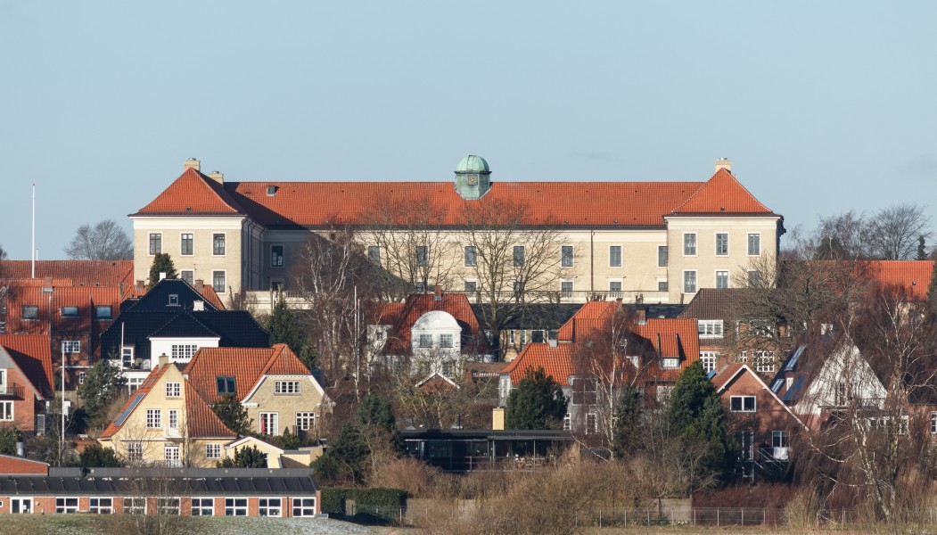 Viborg Cathedral School Eastern Facade as seen from Asmildhøjen Overlund 2017-02-11-7017