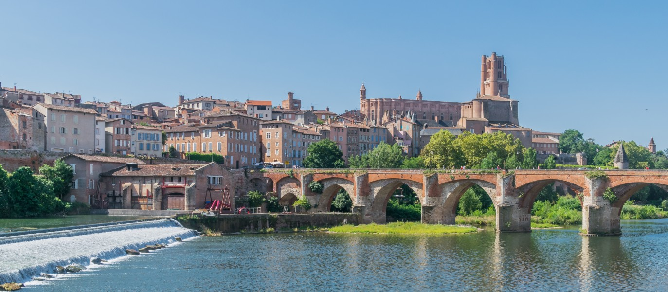 Vieux Pont and Saint Cecilia Cathedral of Albi 06