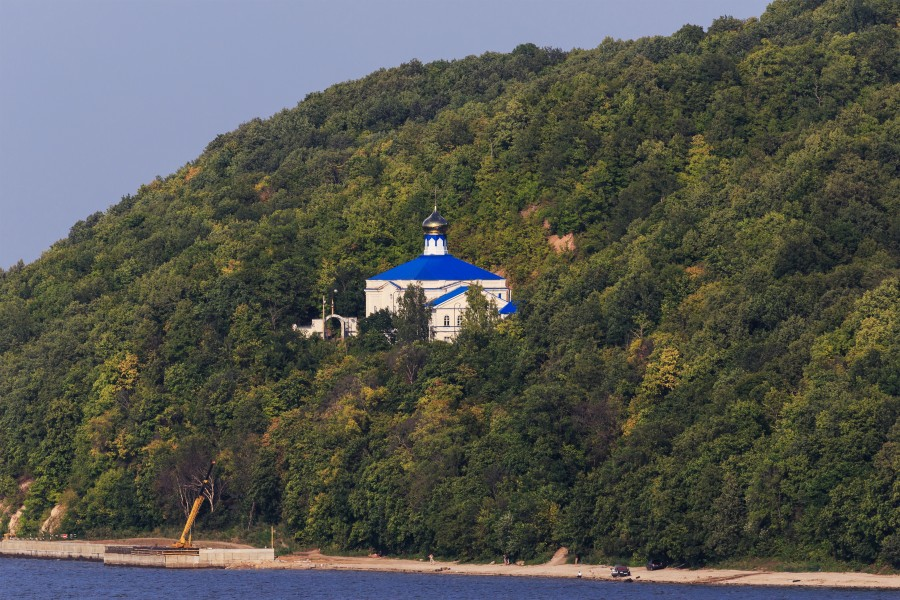 View of Makaryevsky Monastery from Sviyazhsk Island 08-2016