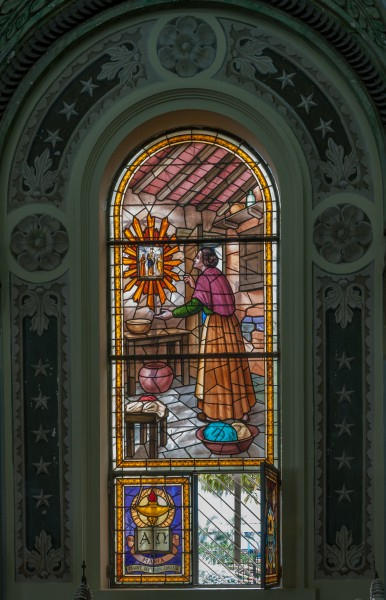 Vitral en la Basilica of Our Lady of the Rosary of Chiquinquirá