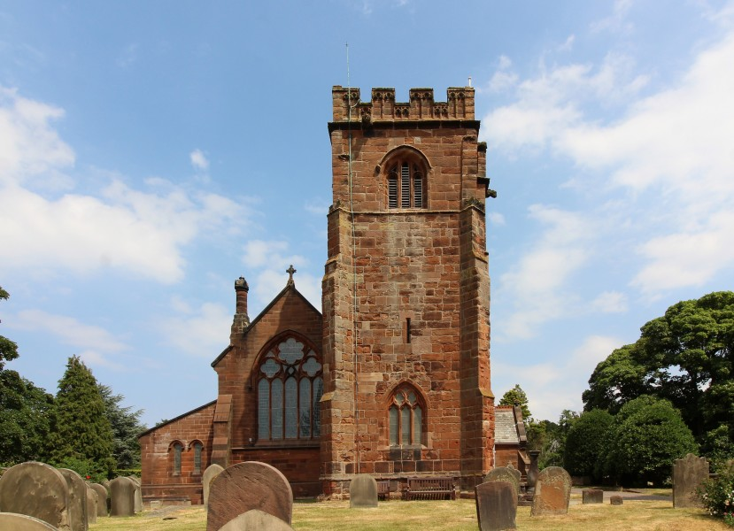 West end and tower of St Peter's church, Heswall
