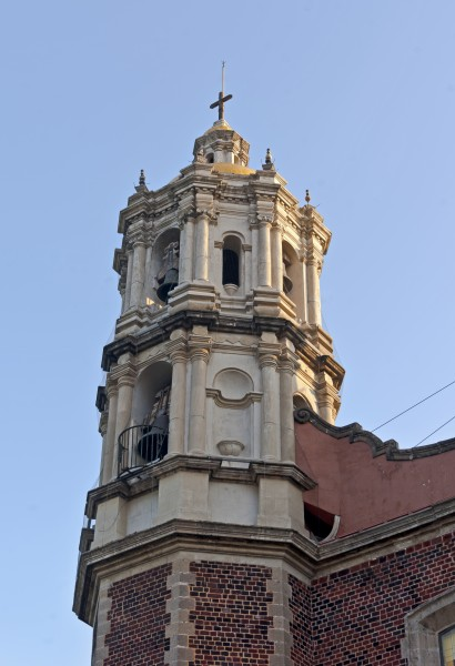 West tower at old Basilica of Our Lady of Guadulupe, Mexico City