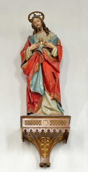 Woodcarved polychromed statue of Jesus in the parish church Feldthurns