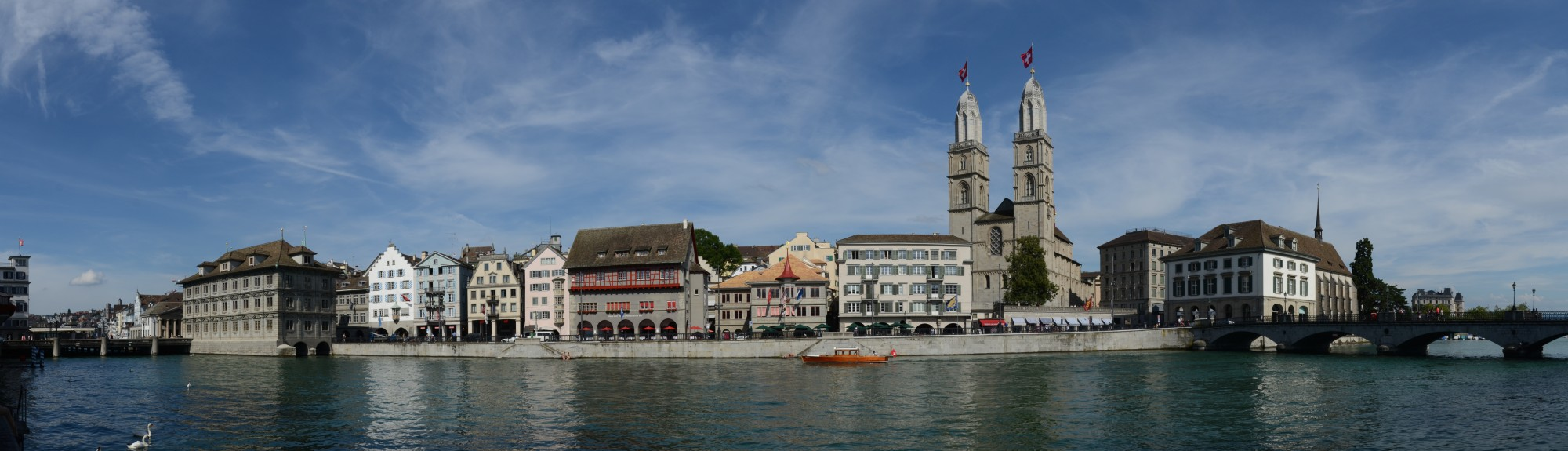Zürich Grossmünster panorama 2012