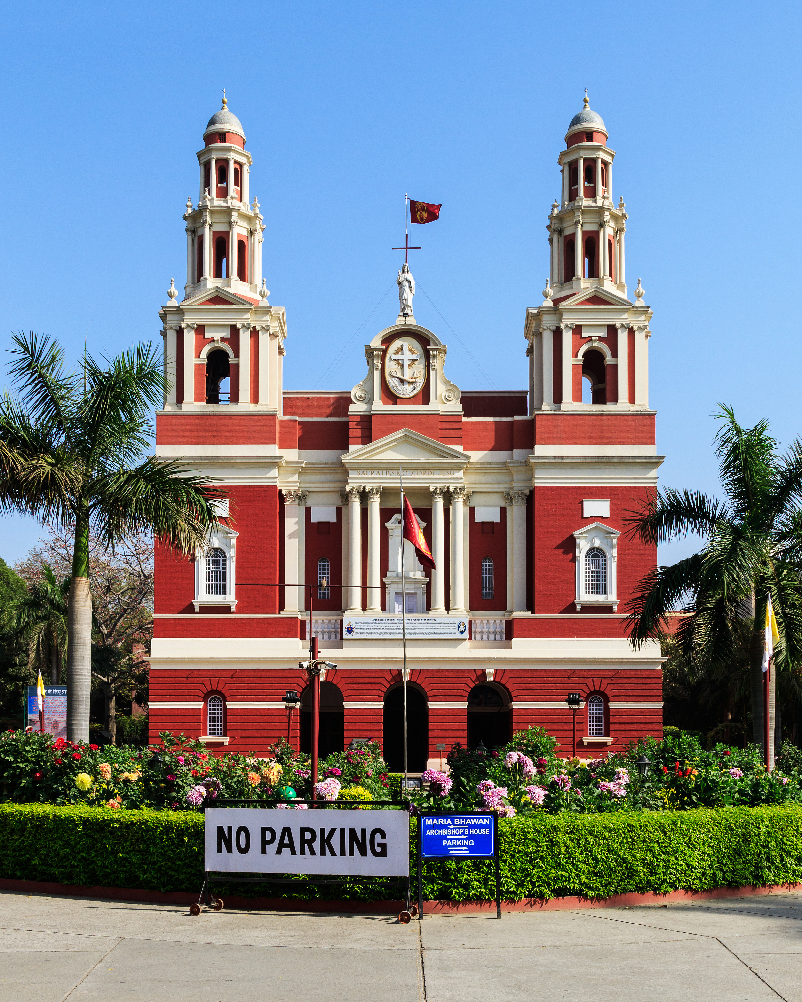Sacred Heart Cathedral in New Delhi 03-2016