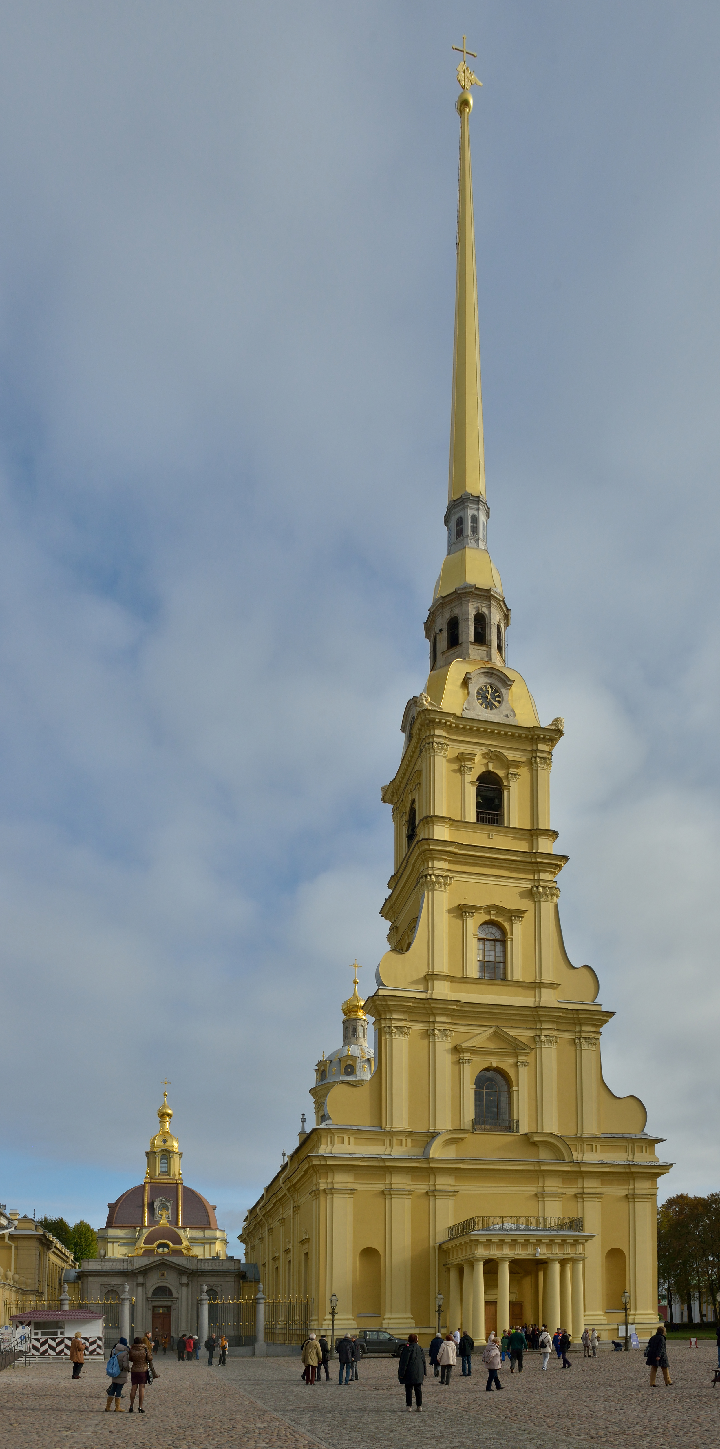 Saint Peter and Paul Cathedral in Saint Petersburg main facade