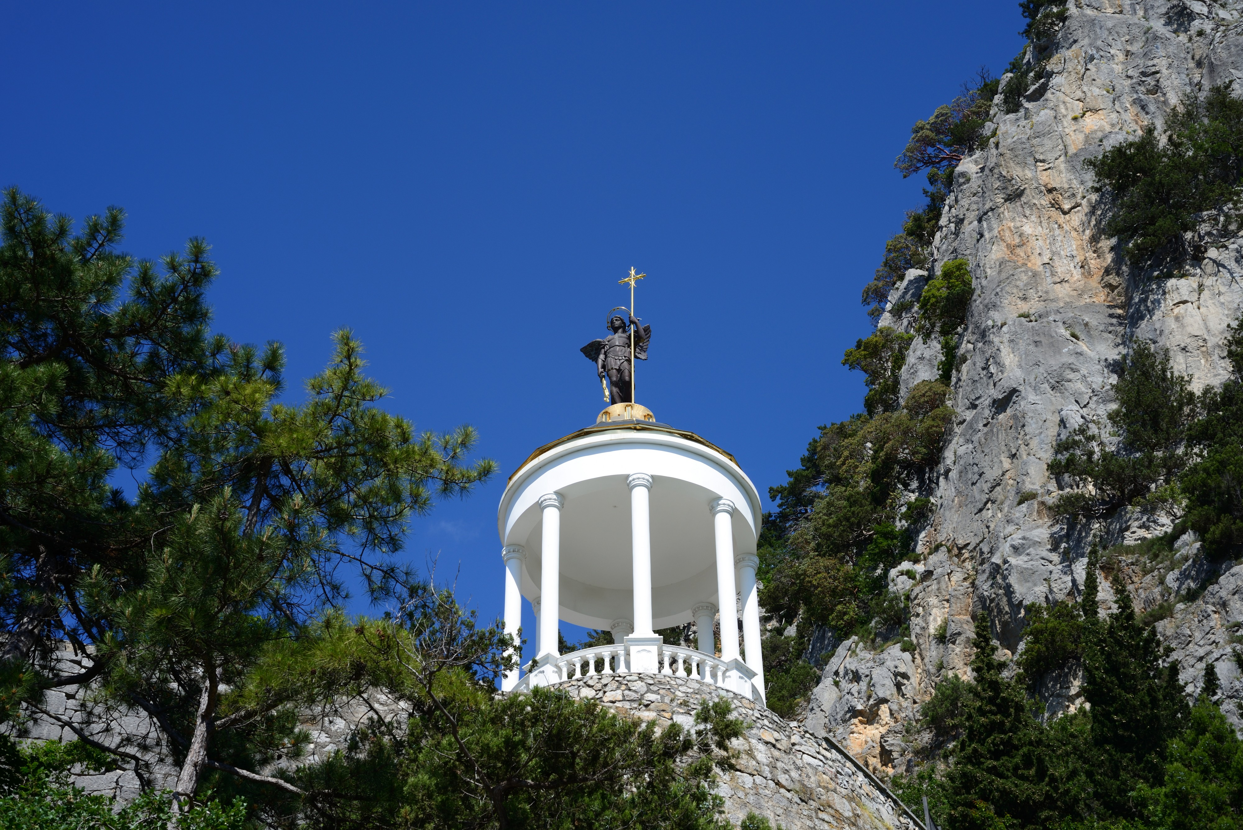 Crimea. Church of the Holy Archangel Michael in Oreanda