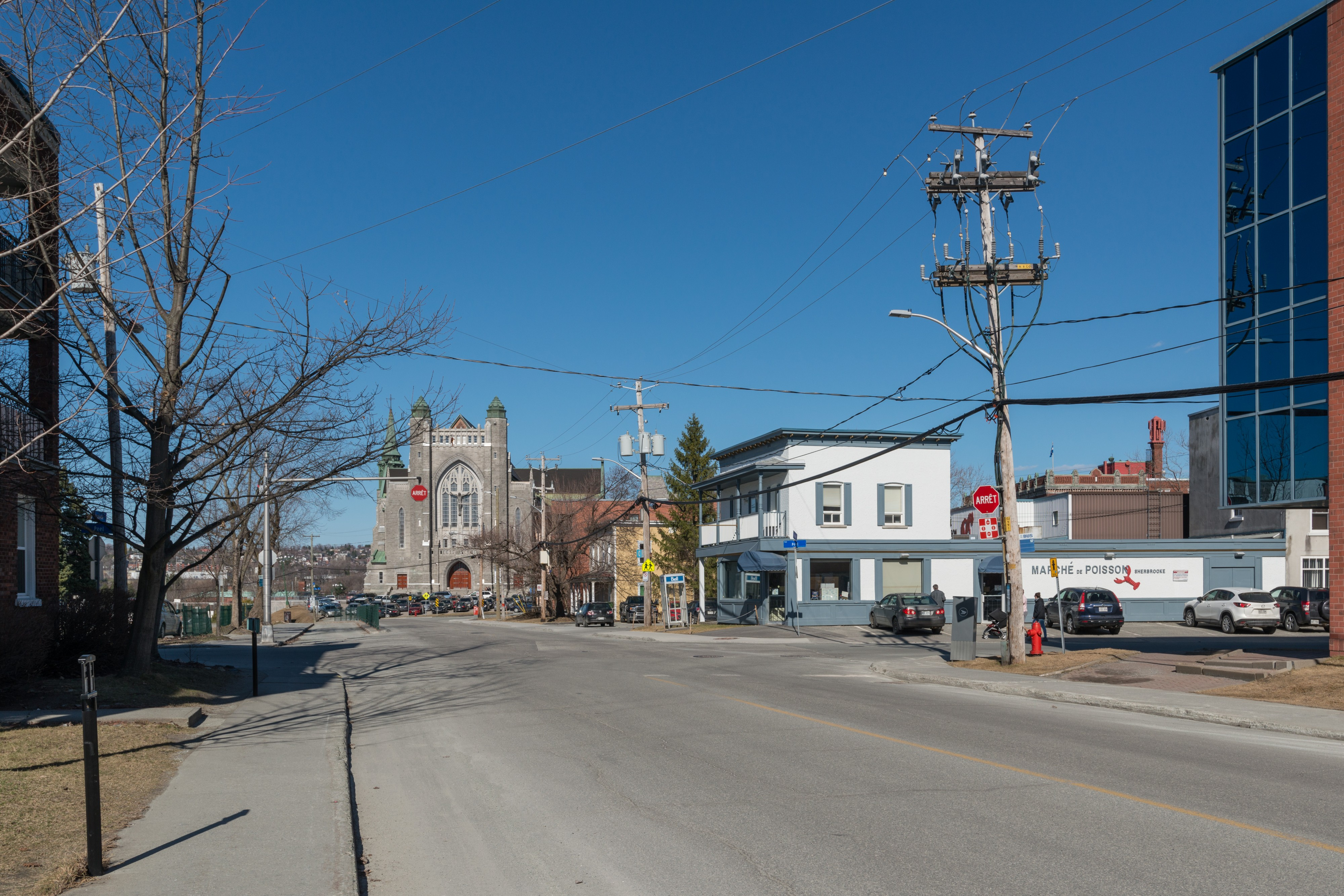 Rue Marquette, Sherbrooke, Looking towards east 20170414 1
