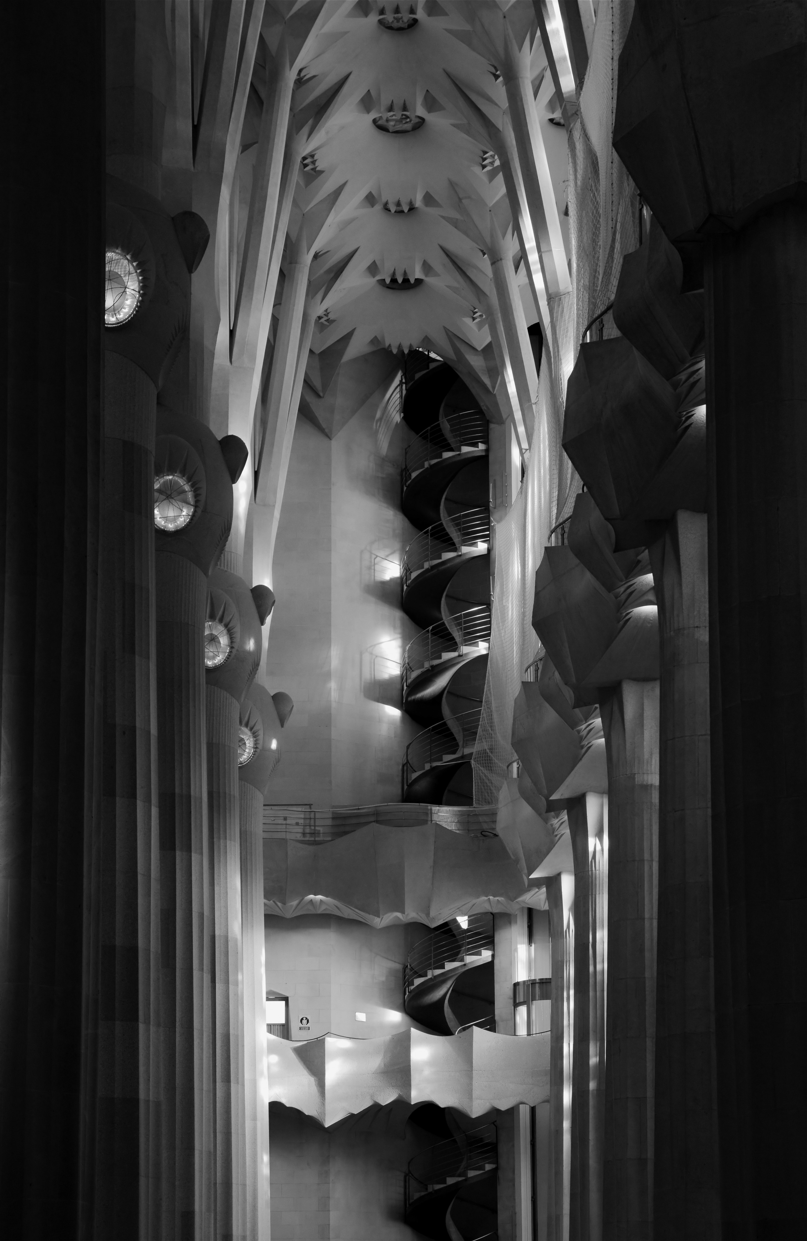 Sagrada Familia March 2015-19bw