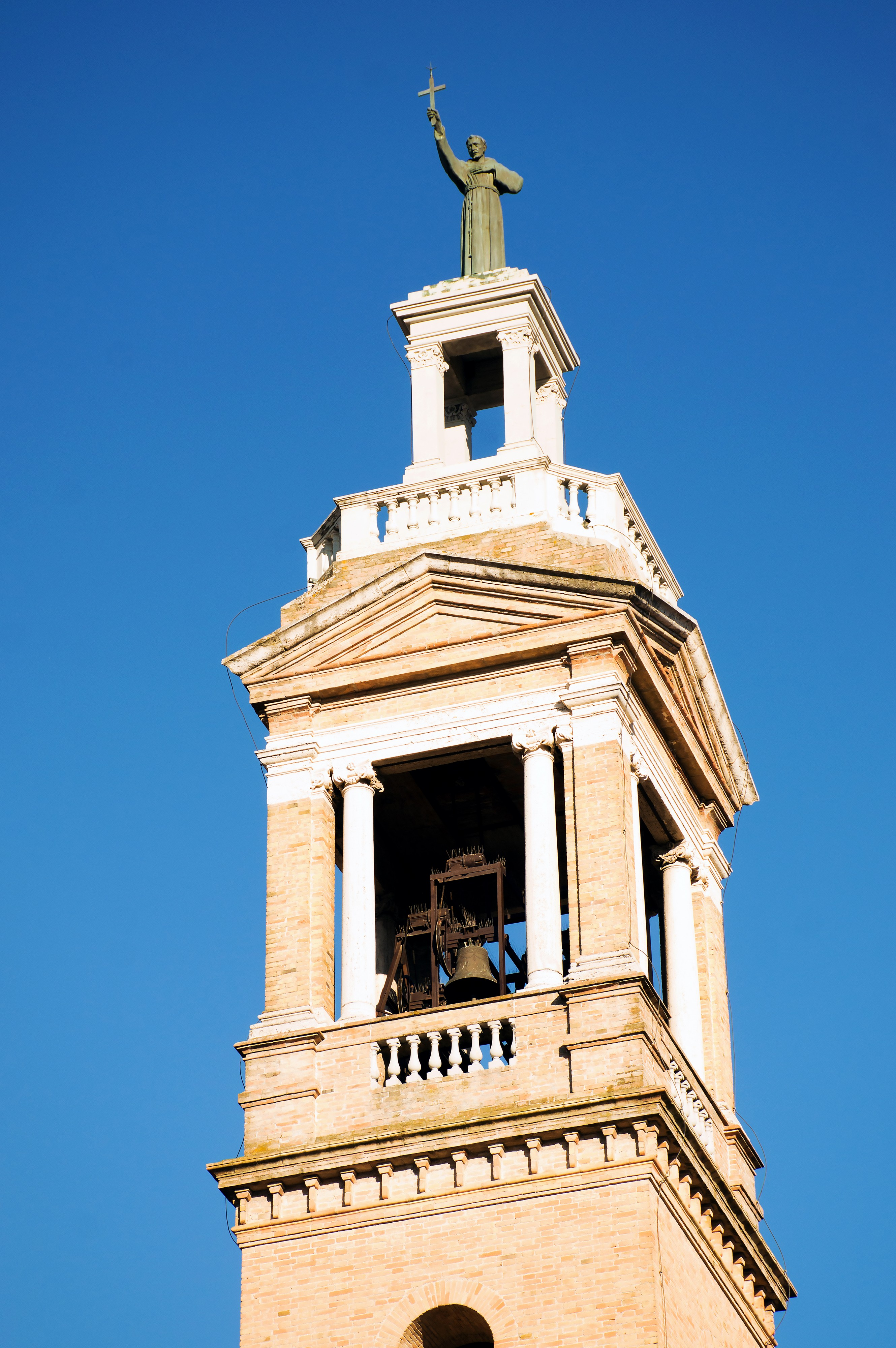 Tower bell of church of Saint Francis in Norcia