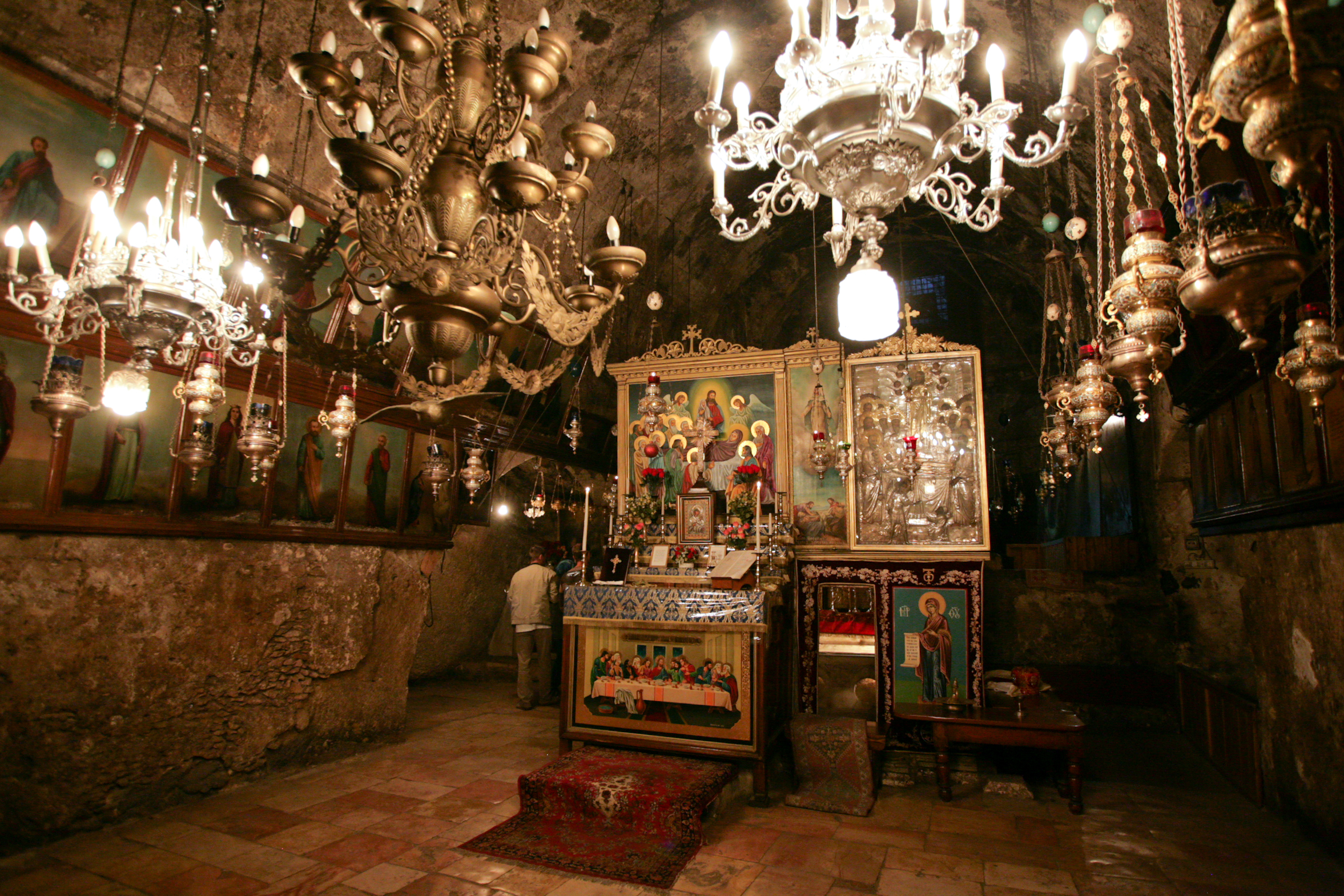 Tomb of the Virgin Mary. Altar. Jerusalem, Israel.