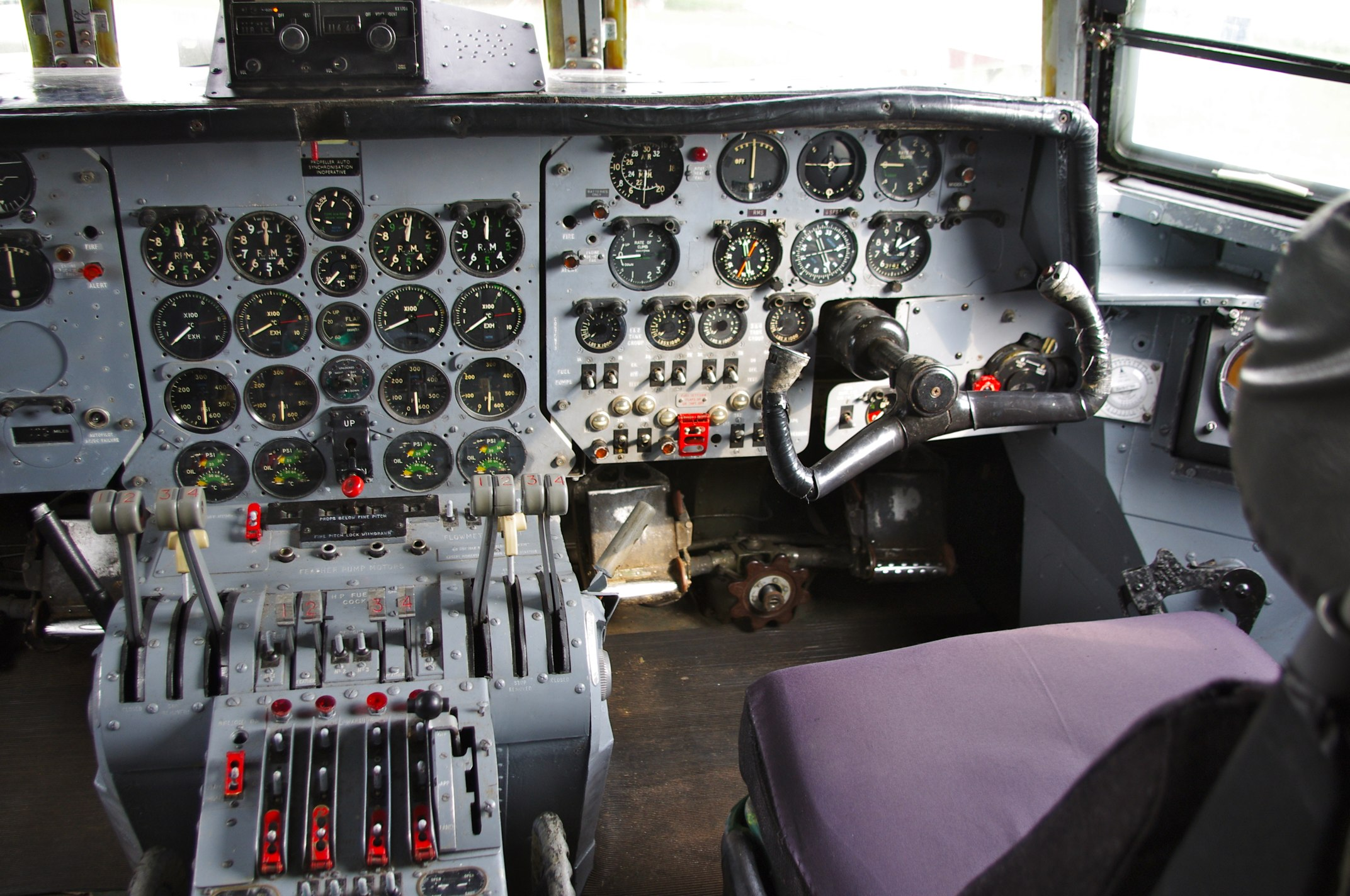 Cockpit of the Armstrong Whitworth Argosy (5761841367)