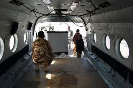 Inside a Mi-8 helicopter