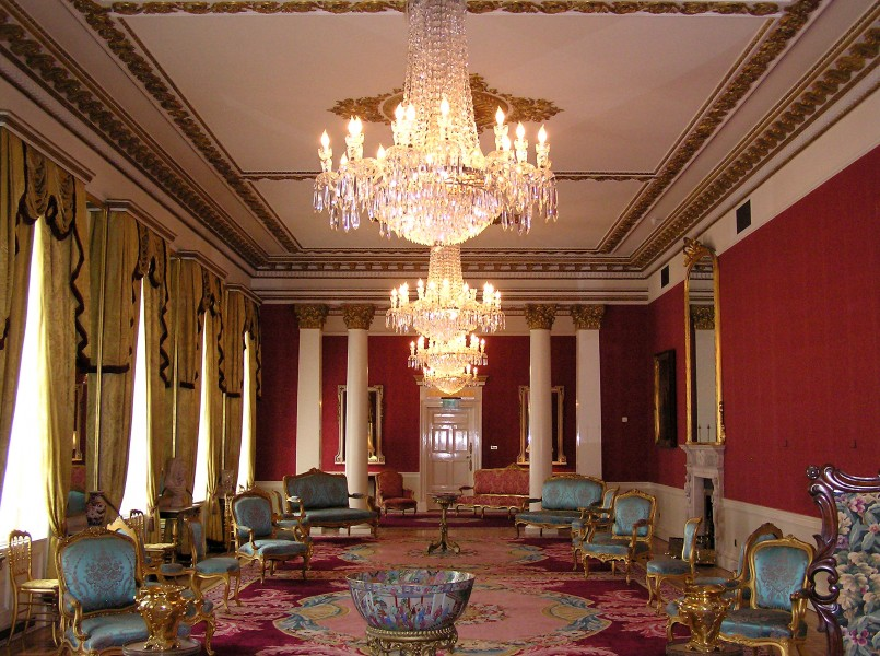 (Ireland) Dublin Castle Interior (State Drawing Room)