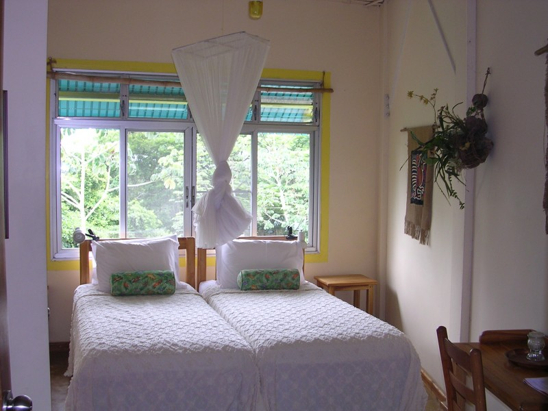 Bedroom of Canopy Tower in Gamboa, Panama 01