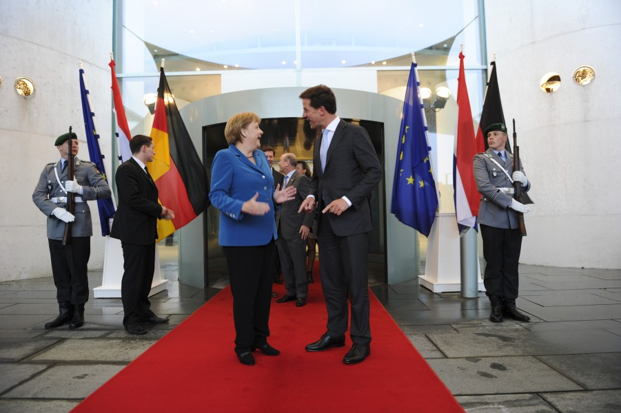 Mark Rutte and Angela Merkel 2012