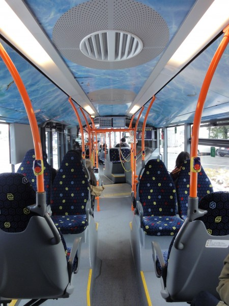Mercedes-Benz O530 CITARO-G Gifu Bus 0001 inside